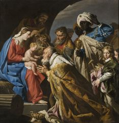Adoration of the Magi, Matthias Stom (or Stomer) (1600-1650)