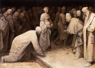 Christ and the Woman Taken in Adultery (1565), Pieter Bruegel the Elder (1525-1569)