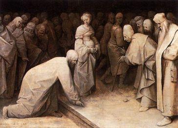 Christ and the Woman Taken in Adultery (1565), Pieter Bruegel the Elder (1525-1569)