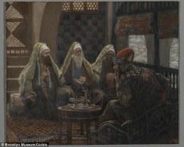 King Herod meets with magi, James Tissot (1836-1902)