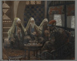 King Herod meets with magi, James Tissot (1836-1902)