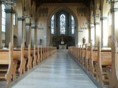 church nave - main aisle - altar