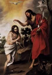 The Baptism of Jesus, Bartolomé Esteban Murillo (1618-1682)