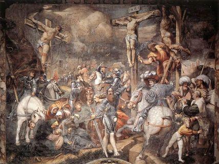 The Crucifixion (1520-1521), Giovanni Antonio de_ Sacchis (Il Pordenone) (1484-1539), Cremona Cathedral, Lombardy
