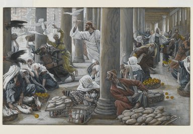 The Merchants Chased from the Temple (Les vendeurs chassés du Temple) (1886-1894), James Tissot (1836-1902)