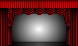 theater curtains & stage