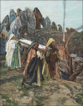 Christ carried to the tome, James Tissot (1836-1902)