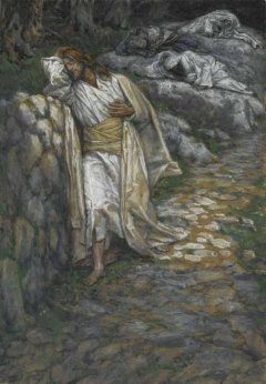 Jesus in the Garden of Gethsemane (My soul is sorrowful unto death), James Tissot (1836-1902)