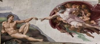 The Creation of Adam (Creazione di Adamo) (1512), Michelangelo di Lodovico Buonarroti Simoni (1475-1564)