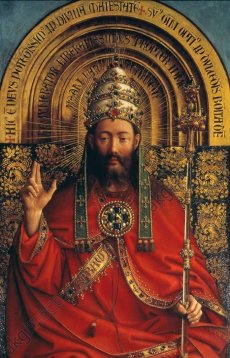 Thronender Gottvater (God the Father Enthroned) (1432), Jan van Eyck (1390-1441)