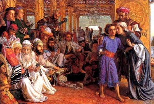 Finding Jesus in the Temple, William Holman Hunt (1827-1910)