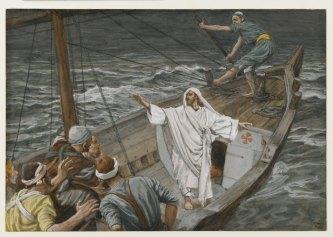 Jesus Stilling the Tempest, James Tissot (1836-1902)