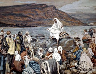 Jesus Teaching by the Seashore