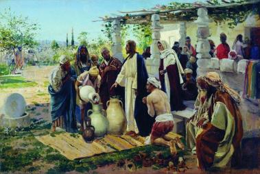 Miracle at Cana (1887), artist unknown