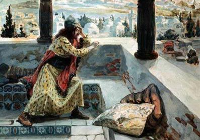 David sees Bathsheba bathing, James Tissot (1836-1902)