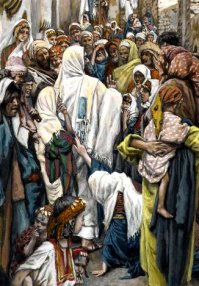 Jesus and the Woman with the issue of blood, James Tissot (1836-1902)