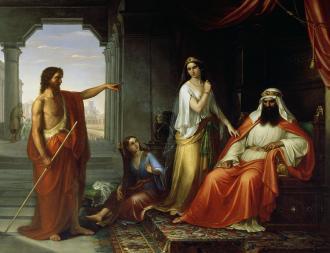 St. John the Baptist Rebuking Herod, Giovanni Fattori (1825-1908)