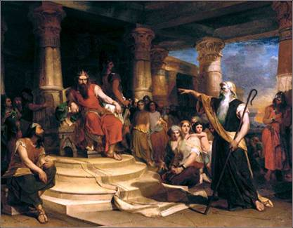 """Thou art the man!"", Nathan accuses King David, Peter Frederick Rothermel (1817-1895)"