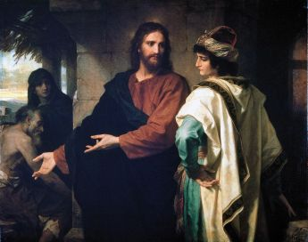 Christ and the Rich Young Ruler (1889), Heinrich Hofmann (1824-1911)