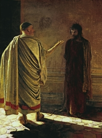 Quod Est Veritas (What is truth) Christ and Pilate, Nikolai Nikolaevich Ge, 1890