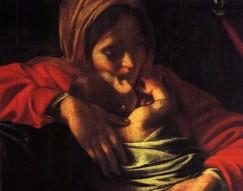 Adoration of the Shepherds (detail), Michelangelo Merisi da Caravaggio (1571-1610)