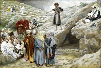 Saint John the Baptist and the Pharisees (Saint Jean-Baptiste et les pharisiens), 1886-1894, James Tissot (1836-1902)