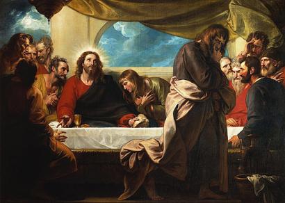 the last supper (la ultima cena) (1786), benjamin west (1738-1820)
