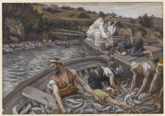 Jesus and the Miraculous Catch of Fish, James Tissot (1836-1902)