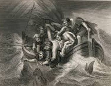 Jonah Cast Out of the Boat, Johann Weikhard Freiherr von Valvasor (1641-1693)
