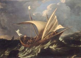 Jonah Escaping by Boat, Carlo Antonio Tavella (1668-1738)