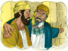 Parable of the Prodigal Son, father appeals to elder son, Sweet Publishing, FreeBibleImages.org