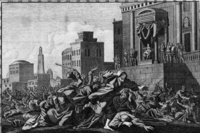 Pilate Orders the Murder of Galilean Pilgrims, artist unknown
