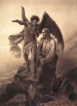 The Temptation of Christ (1872), Vasily Ivanovich Surikov (1848-1916)