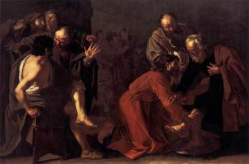Christ washing the apostles' feet, Dirck van Baburen (1595-1624)