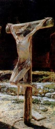 Crucifixion (1894), Nikolai Nikolaevich Ge (1831-1894), detail