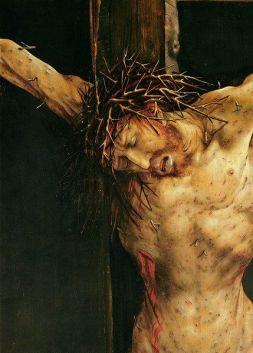 Crucifixion of Christ, Matthias Grünewald (c.1470-1528), detail