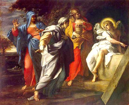 Holy Women at the Tomb of Christ, Annibale Carracci, late 16th century