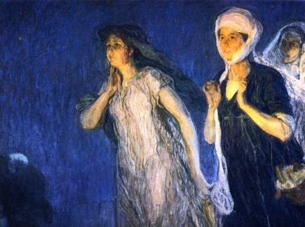 Joanna, gospel woman, witness to Jesus' death and resurrection, Henry Ossawa Tanner (1859-1937)