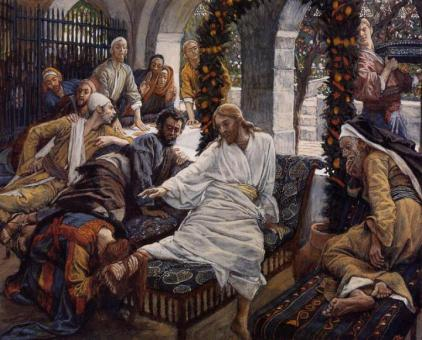 Mary anoints the feet of Jesus (Marie oint les pieds de Jésus), James Tissot (1836-1902)