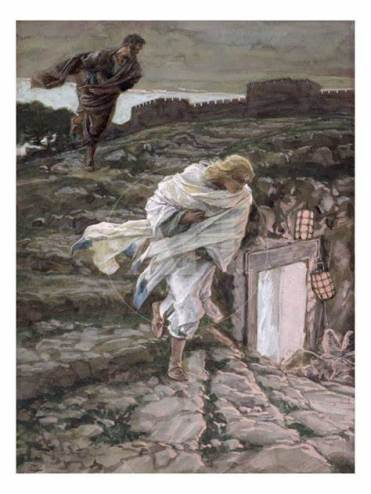 St. Peter and St. John Run to the Tomb, James Tissot (1836-1902)