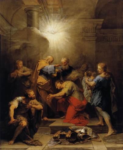 Ananias heals Paul (1719), Jean II Restout (1692-1768)