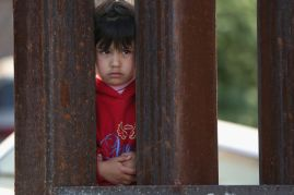 child at border