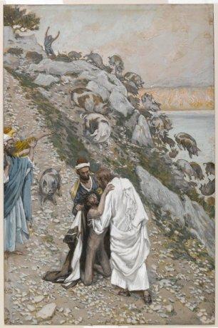 Jesus heals the Gerasene demoniac, James Tissot (1836-1902)
