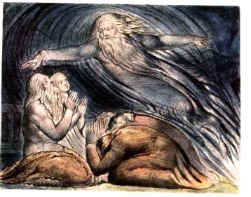 The Lord answering Job out of the whirlwind (1826), William Blake (1757-1827)