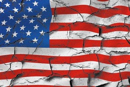 American flag - broken
