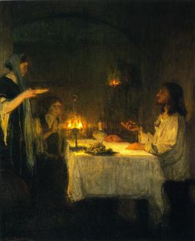 Christ at the Home of Mary and Martha (1905), Henry Ossawa Tanner (1859-1937)