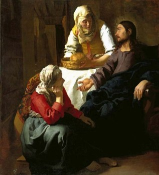 Christ in the House of Martha and Mary (1655), Jan Vermeer van Delft (1632-1675)