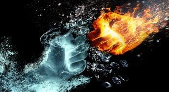 fist-fight, water & fire