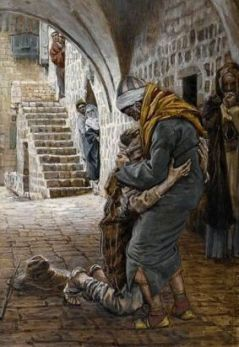 The Return of the Prodigal Son (Le retour de lenfant prodigue), James_Tissot (1836-1902)