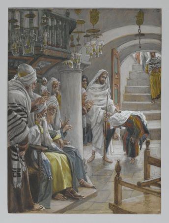 Christ healing an infirm woman on the Sabbath, James Tissot (1886-1896)